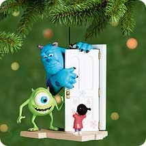 2001 Monsters, Inc.  Sully, Mike, and Boo Hallmark Keepsake Ornament 1495QXD614-5