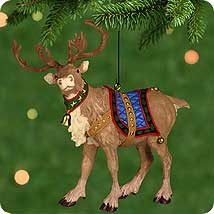 2001 Ready Reindeer  Hallmark Keepsake Ornament 1395QX829-5