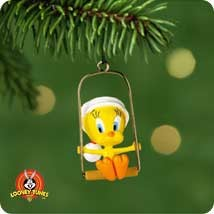 2001 Tweety Looney Tunes  *Miniature Hallmark Keepsake Ornament 695QXM530-5