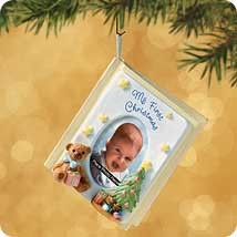 2002 Baby's First Christmas Memory Book Hallmark Keepsake Ornament 1295QX861-3