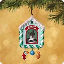 2002 Special Cat-Photo Holder Hallmark Keepsake Ornament 995QX286-3