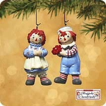 2002 Raggedy Ann and Andy *Miniature Hallmark Keepsake Ornament 995QXM449-6