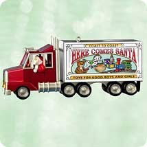 2003 Here Comes Santa 25th & Final Santa's Big Rig Hallmark Keepsake Ornament 1495QX816-7