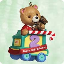 2003 Baby's Age Bear-Baby's 2nd Christmas  (NB) Hallmark Keepsake Ornament 895QXG869-9-2
