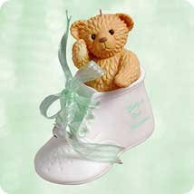 2003 Baby's 1st Christmas-Bear In Shoe Hallmark Keepsake Ornament 1295QXG871-9