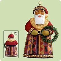 2004 Santas From Around the World United States (African Am) Hallmark Keepsake Ornament 1295QP1734-2