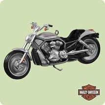 2004 Harley-Davidson 6th Motorcycle Milestones 2002 VRSCA V-Rod Hallmark Keepsake Ornament 1495QX8184