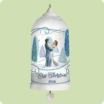 2004 Our Christmas- Twirling Couple  Hallmark Keepsake Ornament 1495QXG5344