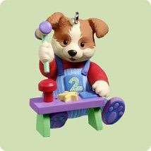 2004 Child's Age Puppy-Baby's 2nd Christmas  (NB) Hallmark Keepsake Ornament 995QXG5664-2