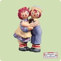 2004 Raggedy Ann And Andy - Holiday Hug  Hallmark Keepsake Ornament 1495QXI5284-2