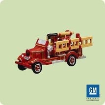 2004 Miniature Fire Brigade 1st 1929 Chevrolet *Miniature Hallmark Keepsake Ornament 995QXM5164