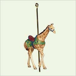 2005 Carousel Ride 2nd Proud Giraffe  (Hard To Find) Hallmark Keepsake Ornament 1295QX201-2