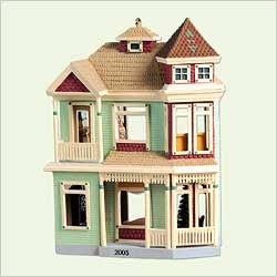 2005 Nostalgic Houses & Shops 22nd Victorian Home Hallmark Keepsake Ornament 1495QX232-2