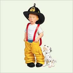 2005 Dreaming Big - Firefighter  Hallmark Keepsake Ornament 995QXG432-5