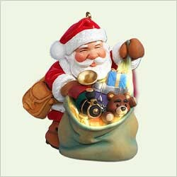 2005 Santa's Magic Sack  Hallmark Keepsake Ornament 1295QXG446-5
