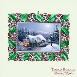 2005 Thomas Kinkade - Silent Night  Hallmark Keepsake Ornament 1495QXG448-2