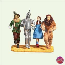 2005 Wizard of Oz Off To See The Wizard Hallmark Keepsake Ornament 1995QXI892-5