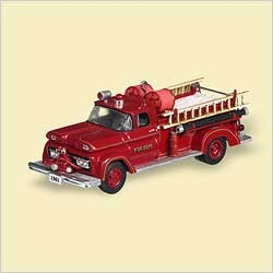 2006 Fire Brigade-4th-1961 GMC *Magic Hallmark Keepsake Ornament 1850QX232-6