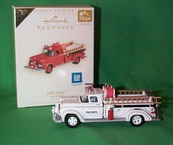 2006 Fire Brigade 4th 1961 GMC Colorway *Magic Hallmark Keepsake Ornament QX2326C