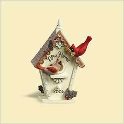 2006 New Home-Bird House Hallmark Keepsake Ornament 1250QXG300-3