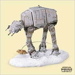 2006 Star Wars Imperial At-At & Rebel Snowspeeder *Magic Hallmark Keepsake Ornament 2800QXI619-3