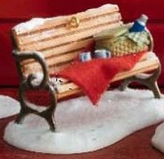 2007 Winter Park Cozy Bench Hallmark Keepsake Ornament QP1227