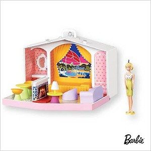 2007 Barbie Family Deluxe House set/2 Ornament Hallmark Keepsake Ornament QXI7267
