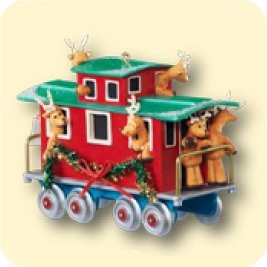 2007 All Aboard For Fun *Event Hallmark Keepsake Ornament QXC7013