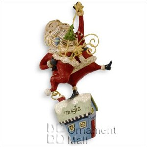 2008 A Santa Claus Christmas Magic Man! Hallmark Keepsake Ornament QP1624
