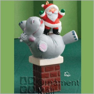 2008 I Want a Hippopotamus for Christmas *Magic Hallmark Keepsake Ornament QSR8011
