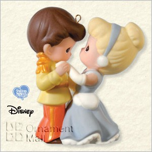 2008 Cinderella and Her Prince Precious Moments  Hallmark Keepsake Ornament QXD6421