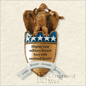 2008 On Wings of Courage Military Shield Hallmark Keepsake Ornament QXG2161