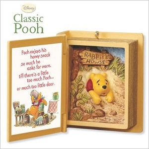 2009 Winnie the Pooh Book 12th A Snack for Pooh Hallmark Keepsake Ornament QX8362