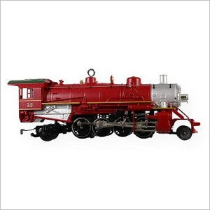 2009 Lionel Trains 14th Holiday Red Mikado Locomotive Hallmark Keepsake Ornament QX8602