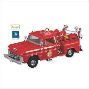 2009 Fire Brigade 7th 1965 Chevrolet Fire Engine *Magic Hallmark Keepsake Ornament QX8612
