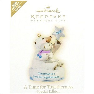 2009 A Time for Togetherness Colorway *Event DB Hallmark Keepsake Ornament QXC6542