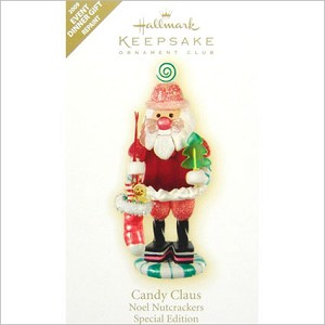 2009 Noel Nutcrackers 1st Candy Claus Colorway *Event Hallmark Keepsake Ornament QXC7211A