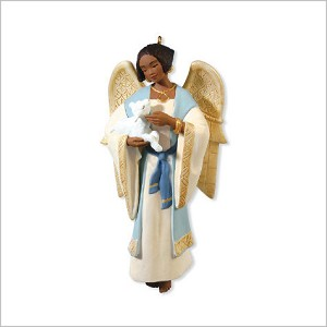 2010 A Gift From Heaven Angel African American Hallmark Keepsake Ornament QXG7736