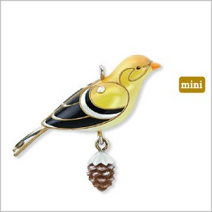2010 Beauty of Birds Complement Goldfinch *Miniature  (SDB) Hallmark Keepsake Ornament QXM9066-2