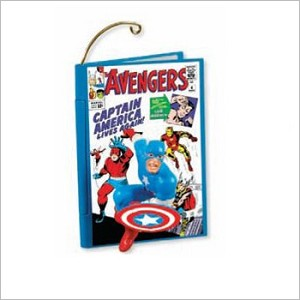 2011 Comic Book Heroes 4th and Final Captain America and The Avengers Hallmark Keepsake Ornament QX8819