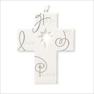 2012 A Season to Believe Porcelain Cross Hallmark Keepsake