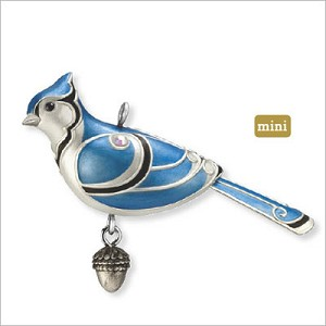 2012 Beauty of Birds Complement Blue Jay *Miniature  Hallmark Keepsake Ornament qxm9014