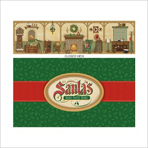 2013 Santa's Home Sweet Home Backdrop *Event Hallmark Keepsake Ornament 2013Event11