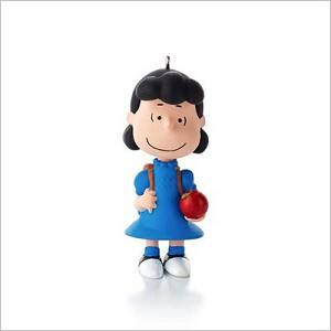 2013 Peanuts Monthly Series 2nd Lucy All Set for School Hallmark Keepsake Ornament QX9805