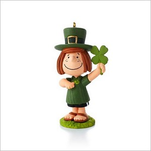 2013 Peanuts Monthly Series 8th Peppermint Patty St. Patty's Day Hallmark Keepsake Ornament QX9835
