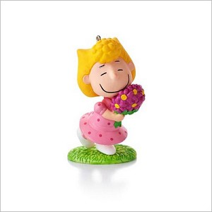 2013 Peanuts Monthly Series 10th Sally's Spring Bouquet Hallmark Keepsake Ornament QX9845