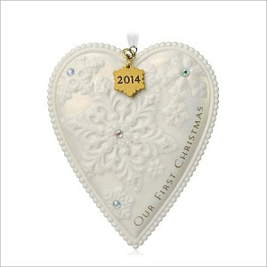 2014 Our First Christmas Porcelain Heart Hallmark Keepsake ...