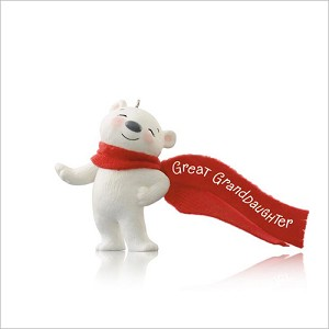 2014 Great Granddaughter Polar Bear (NB) Hallmark Keepsake Ornament QGO1506-2