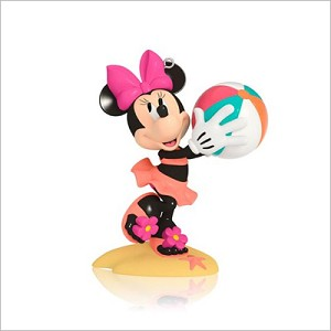 2014 Disney Monthly Series 1st Minnie Has a Ball Hallmark Keepsake Ornament QHA1022