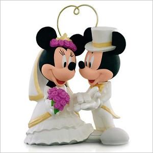 2015 Mickey and Minnie Wedding I Do Times Two Hallmark Keepsake